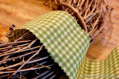 Fabric Wreath Hanger