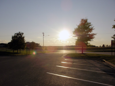 After leaving at 7:00 AM, the sun sets on our first day of the vacation near the Minnesota State Line.