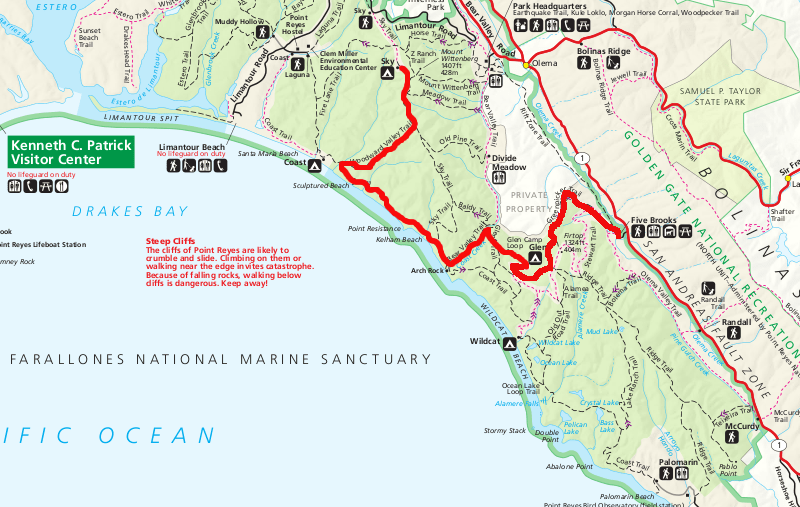 Point Reyes Backpacking Itinerary Sean