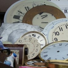 the estate of things chooses vintage clock faces