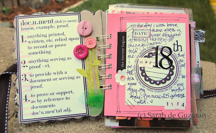 The first two pages of the mini album.