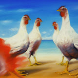 'galline al mare'  Oil on canvas  cm.50x75.jpg