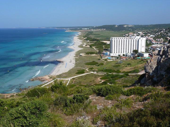 Vistas de Playa de Son Bou Menorca
