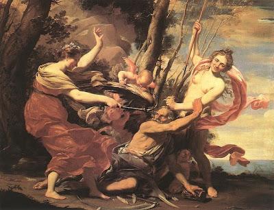 Padre Tempo sconfitto da Bellezza, Amore e Speranza - Simon Vouet