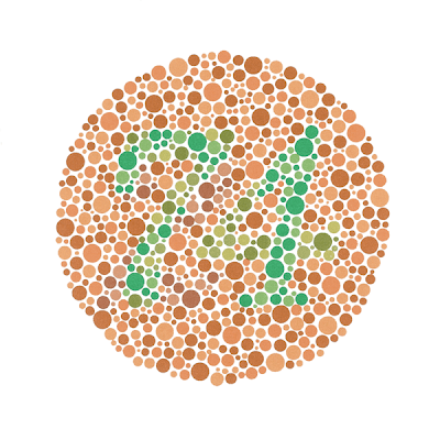 If You're Red Green ColorBlind, you can't see that this is supposed to be the number '74'.