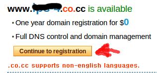 continue co.cc Cara Mendaftar Domain Gratis Co.CC, Sudah ter index Google Kembali