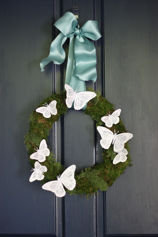 ashley's wreath on the door