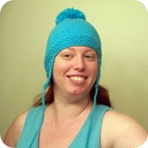 earflap hat turquoise 2