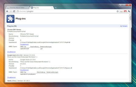 Chrome Plugins inkl. Detail-Ansicht