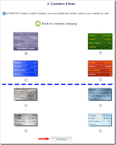 Statistik blog widget gratis dari histats 05