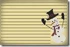 printable snowman recipe card