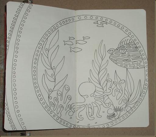 sketchbook project spread two
