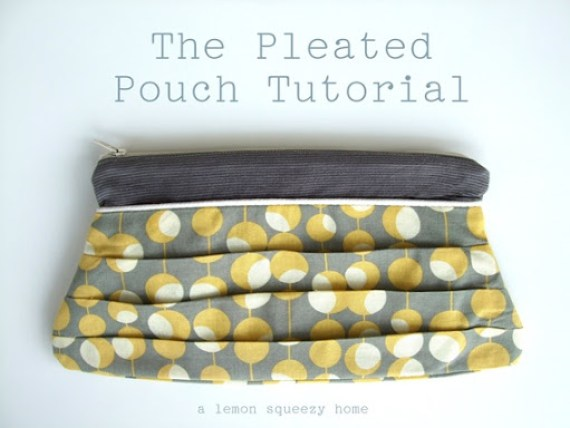 Pleated Pouch Tutorial {a lemon squeezy home}