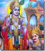 Lord Krishna instructing Arjuna