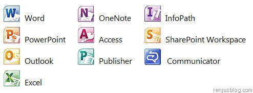 ms office 2010 download applications list