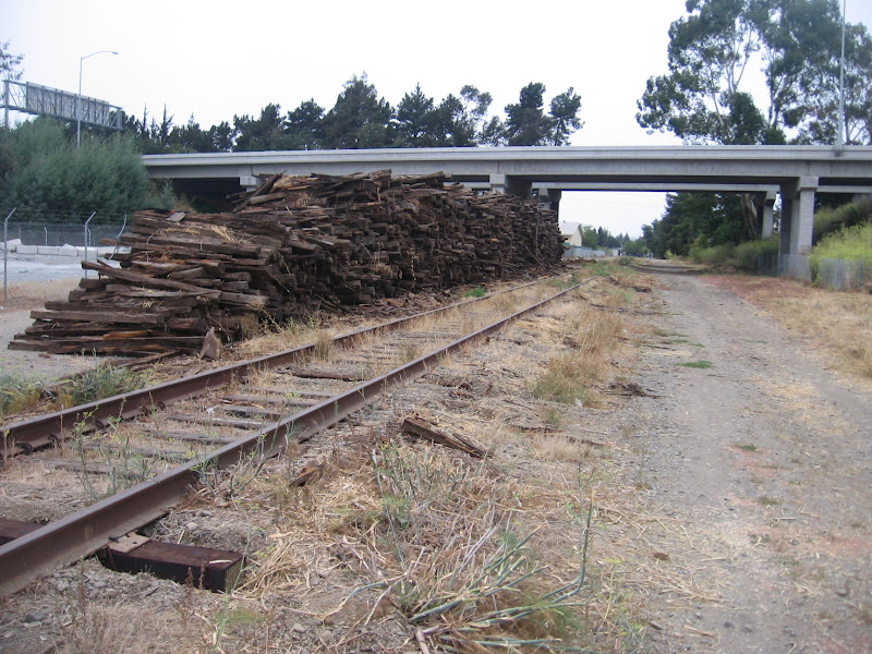 Pile of Northwest Pacific RR replaced ties, Santa Rosa, Calif., Sept. 2009