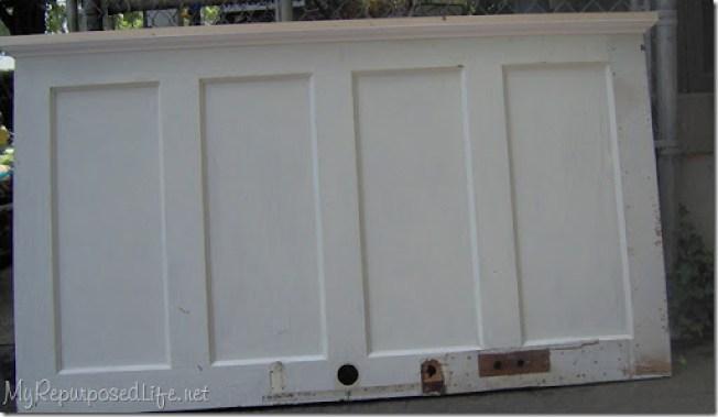 door into headboard