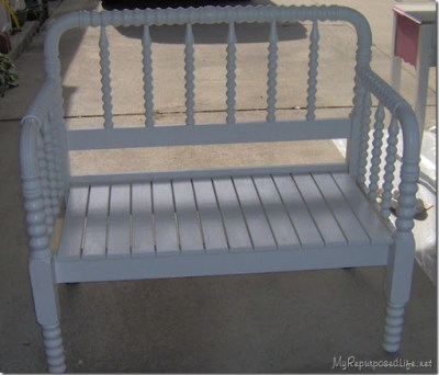 Surprising Spool Bed Made Into A Bench Short Links Chair Design For Home Short Linksinfo