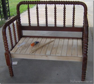 Terrific Spool Bed Made Into A Bench Short Links Chair Design For Home Short Linksinfo