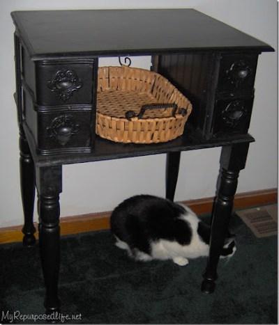 repurposed vintage sewing machine