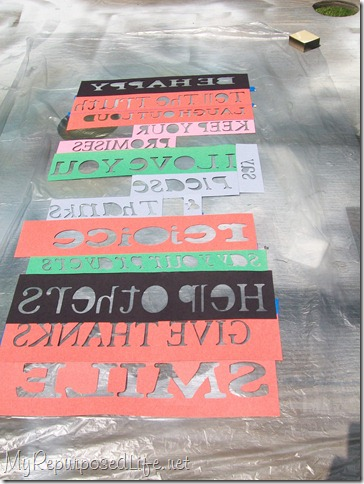 family rules sign stencils