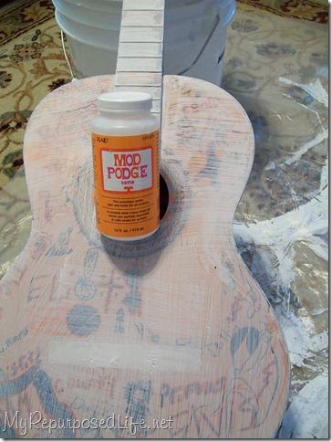 mod podge guitar