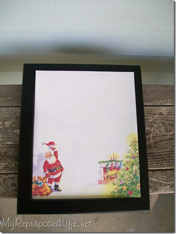 Christmas Dry Erase Message Board