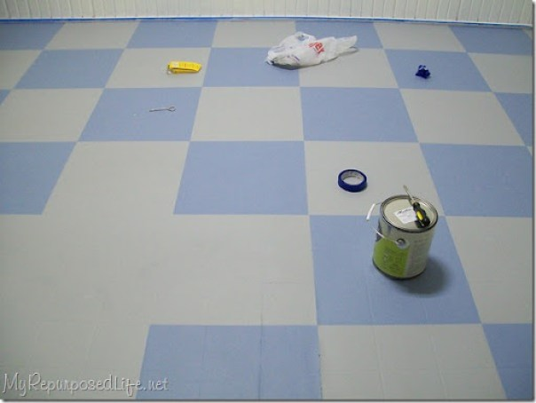 painted kitchen vinyl floor