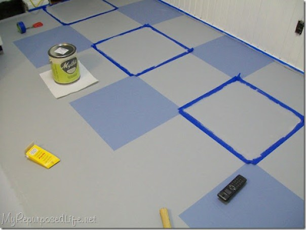 painting a vinyl kitchen floor