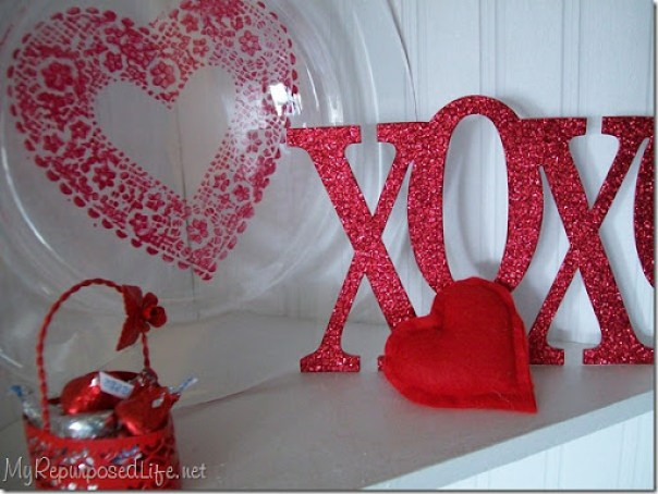 how to paint on glass easy valentine decor