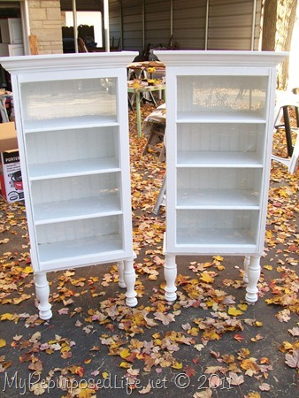 repurposed window cupboards