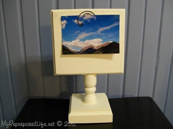 white pedestal display stand MyRepurposedLife.com