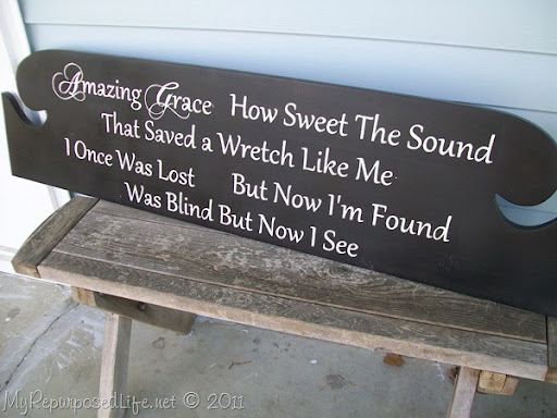 Amazing Grace sign from headboard (7)