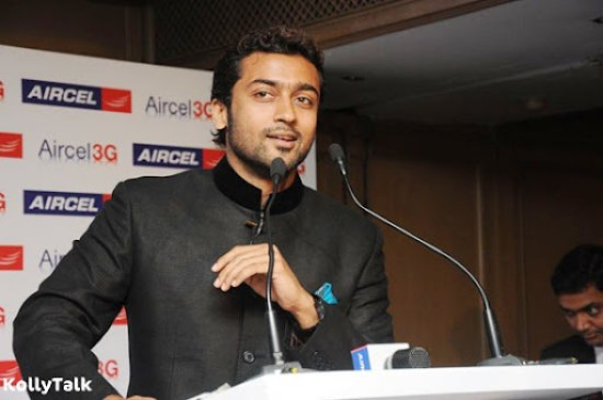 Surya launches Aircel 3G Stills 7