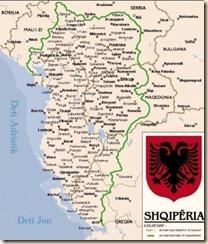 La mappa dell'Albania etnica