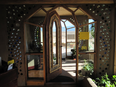 Door to the Earthship Visitor Center