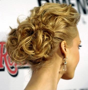 celebrity updo hairstyle 2011