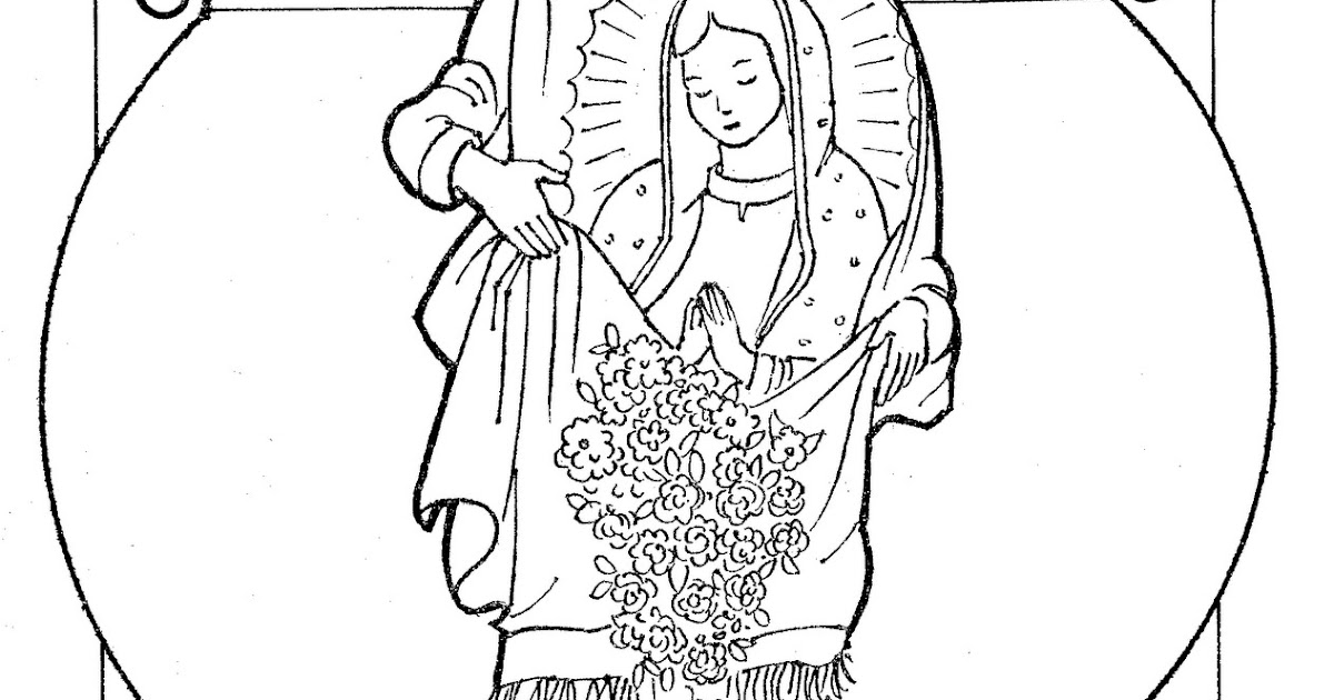 adult virgen de guadalupe coloring pages virgen de guadalupe ... | 630x1200