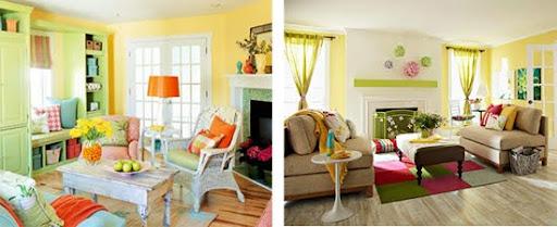 usar el verde para refrescar la decoracion
