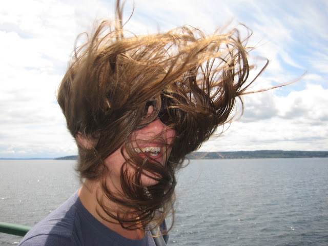 We took a ferry and met some wind