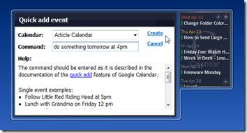 Google Calendar Agenda