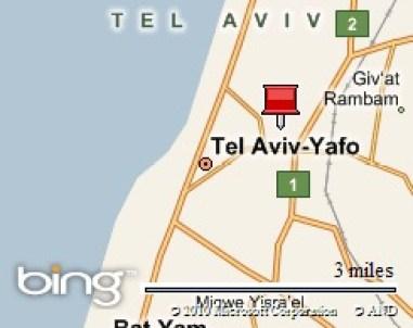 Location - Map Tel Aviv
