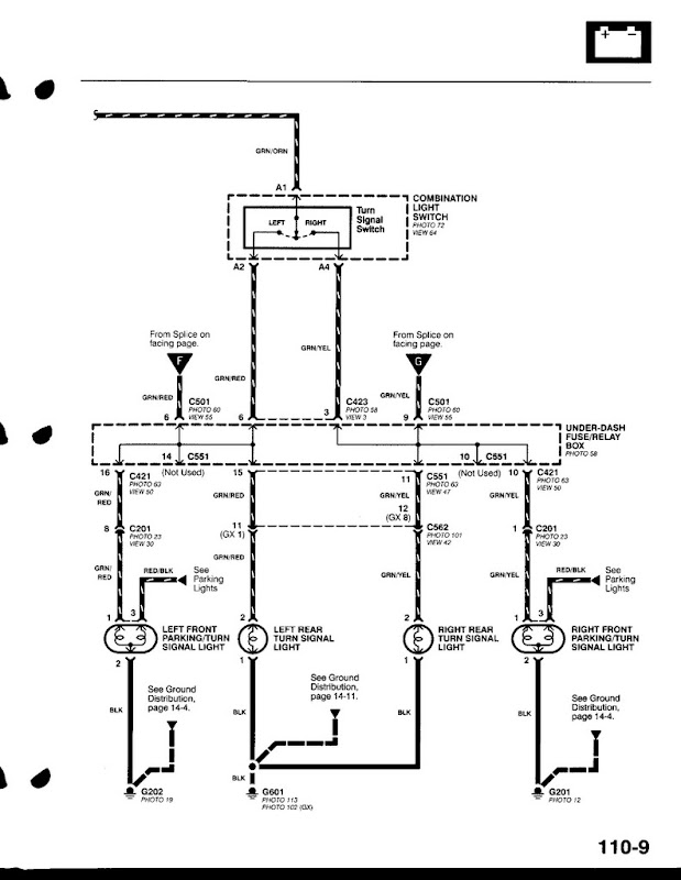 1996 honda accord turn signal wiring diagram  center wiring