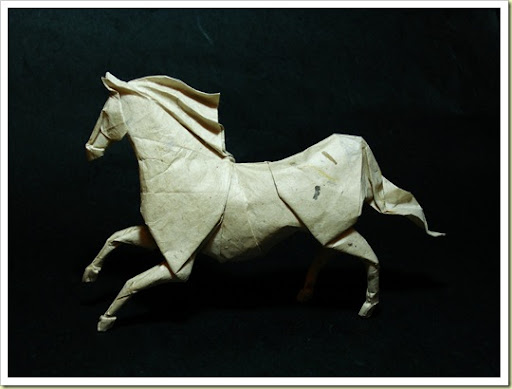 Origami Horse Designed By Roman Diaz Folded From 4040 Cm Mc Treated Handmade