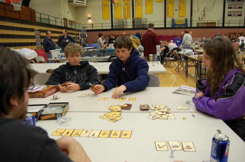 Two recruits enjoy a game of Munchkin at Recruits Con.