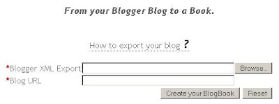 Blogbooker setting