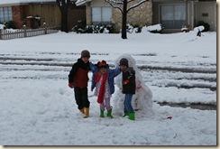 sweet kids in snow