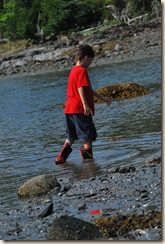 wading in water PJ