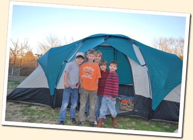 5 boys and a tent