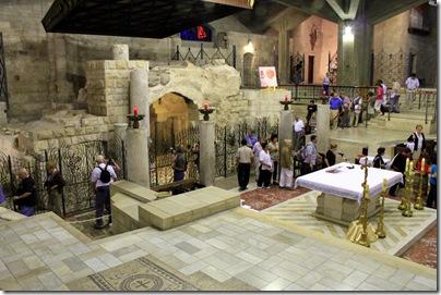 Inside the Church of Annunciation, Nazareth